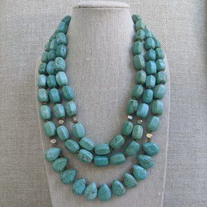 Silpada Howlite Turquoise 3 Strand Necklace